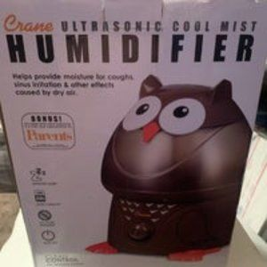 Crane Adorable Owl Ultrasonic Cool Mist Humidifier